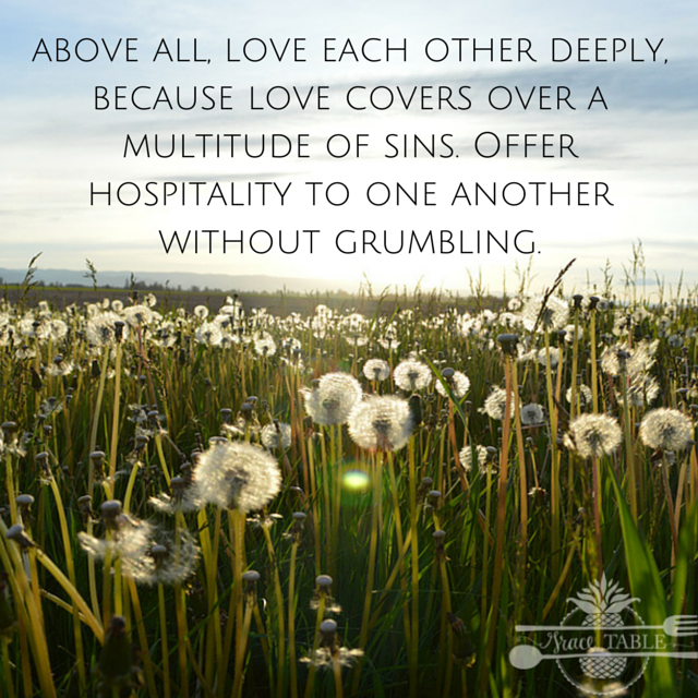 Love Each Other Deeply: Spacious Hospitality